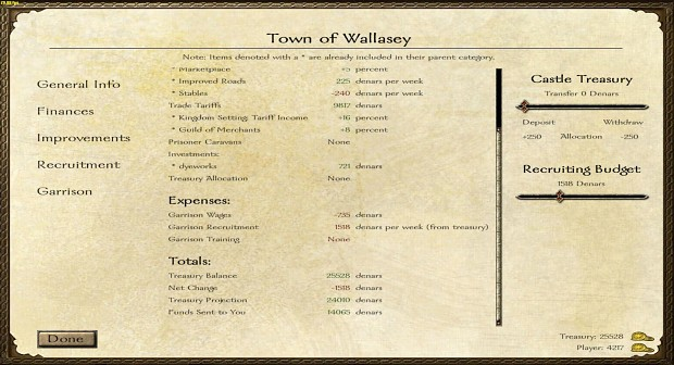 Town Financial UI