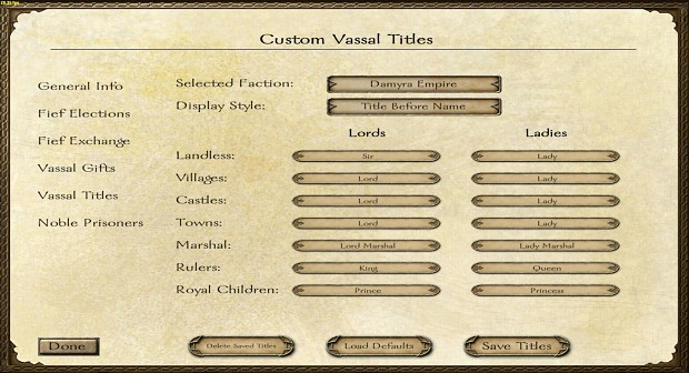 Custom Vassal Titles