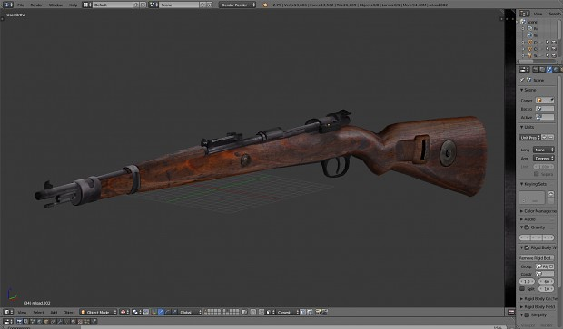 New mauser model and texture