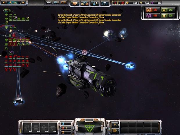Small fleet battle