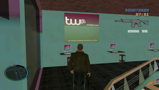 tw internet cafe interior image gta iii to iv total conversion mod for grand theft auto iii. Black Bedroom Furniture Sets. Home Design Ideas
