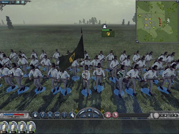 Ireland troops in battle