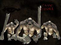 Cave Troll - With Neck Brace and Chain