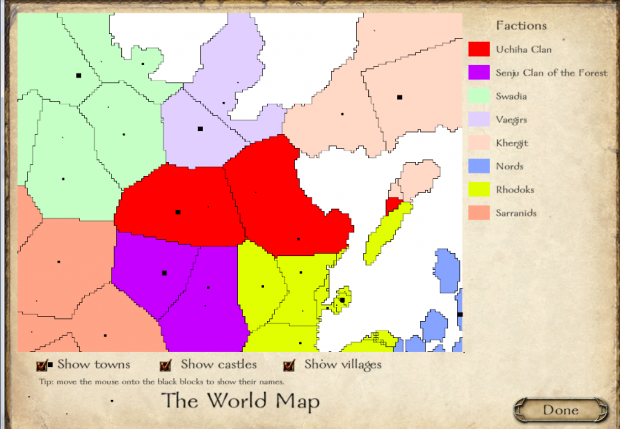 World Map image - Naruto Mod: Warring States for Mount ...