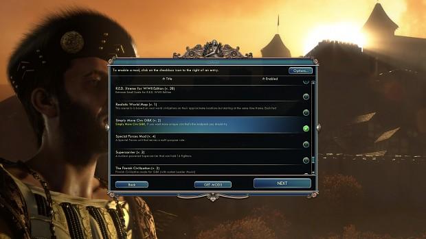 Simply More Civs Menu Screenshots