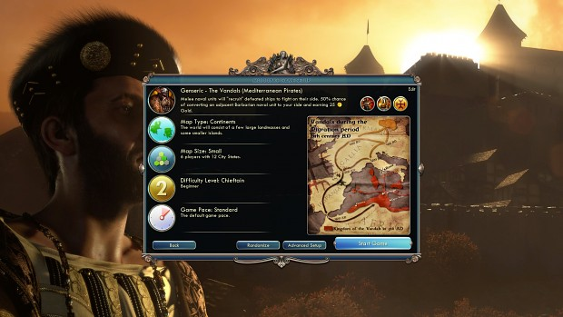 Simply More Civs Menu Screenshots