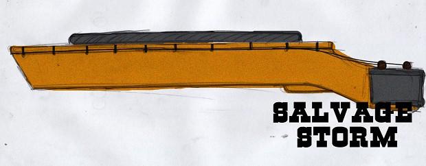 19th Century Railgun Concept Art