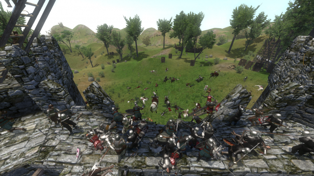 Fighting on Partially Destroyed Wall