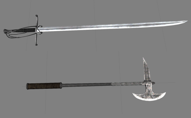 Long Swiss Saber and Spiked Axe by Zimke