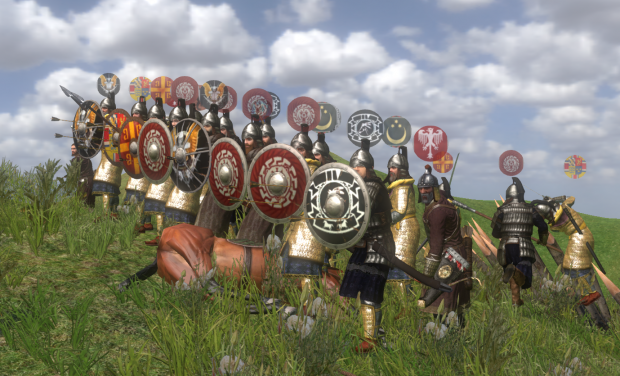 Strategus Field Battle - Shield Wall