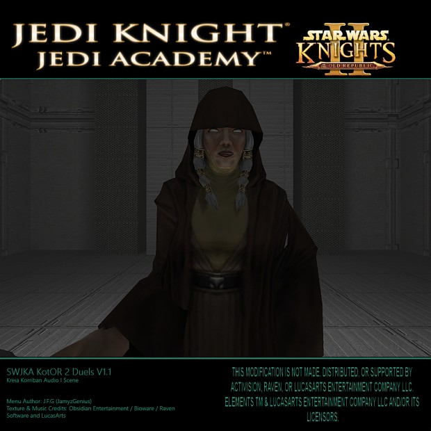 Star Wars Jedi Knight: Jedi Academy - Kotor 2 Duels V1.1 Kreia Audio Scene II KR