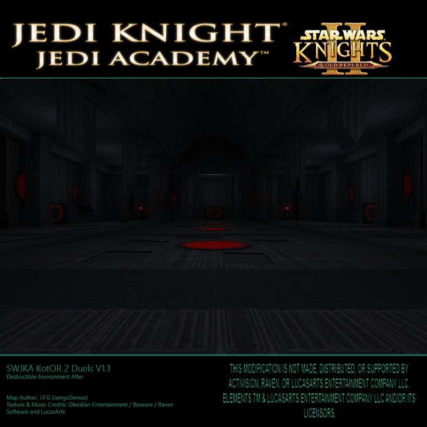 Star Wars Jedi Knight: Jedi Academy - Kotor 2 Duels Destructible Environments