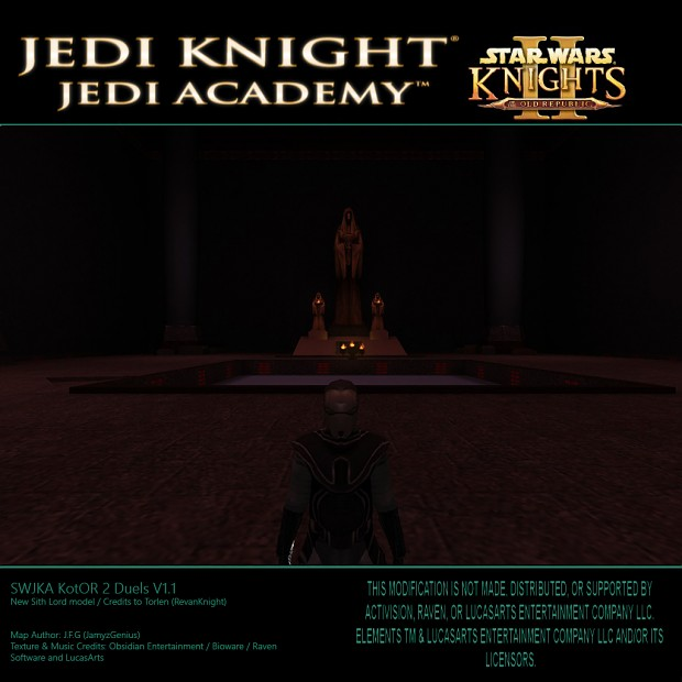 SW Jedi Knight Jedi Academy - KotOR 2 Duels V1.1 New Sith Lord Model