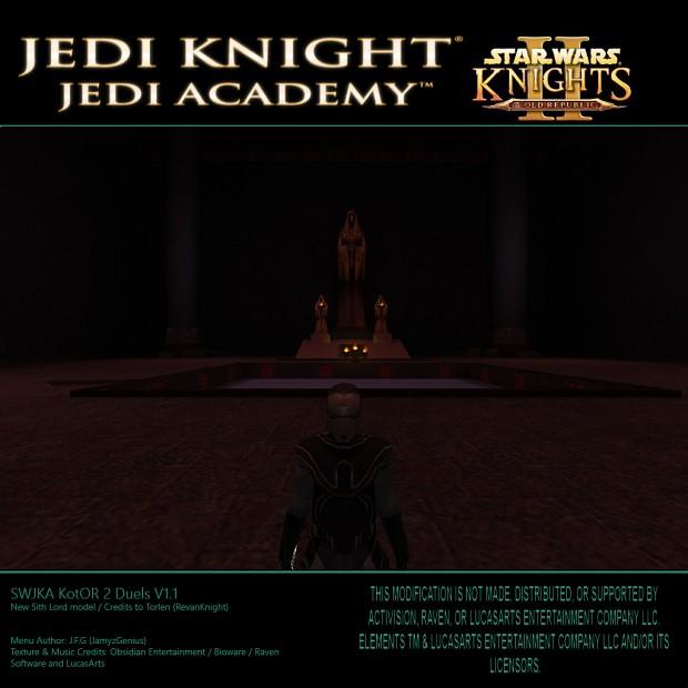 SW Jedi Knight Jedi Academy - KotOR 2 Duels V1.1 New Sith Lord Model