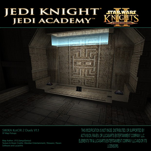 SW Jedi Knight: Jedi Academy - Kotor 2 Duels SP Map Pickups