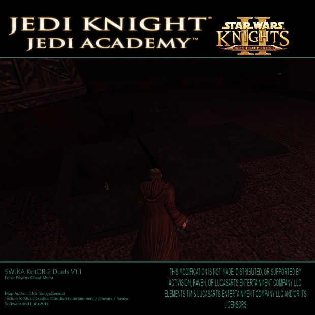 Star Wars Jedi Knight: Jedi Academy - Kotor 2 Duels V1.1 SP Pickups