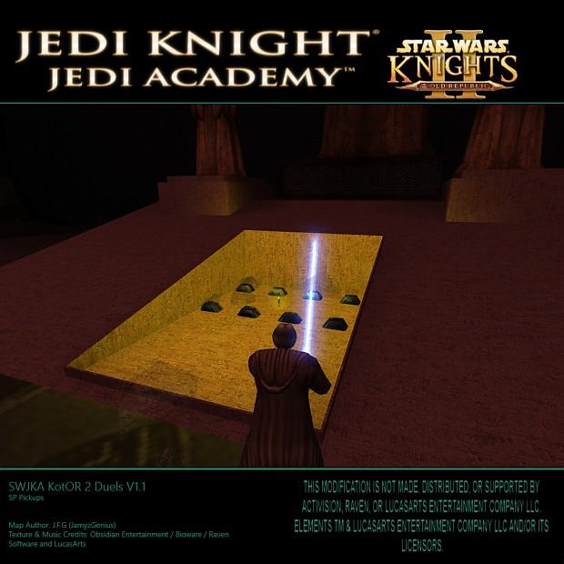 SW Jedi Knight Jedi Academy - KotOR 2 Duels V1.1 SP Pickups 2
