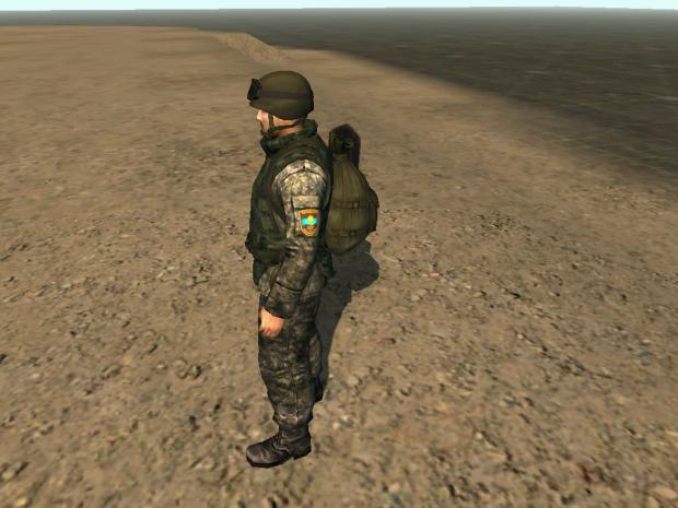 Kazahstan soldier in CSTO (ODKB)