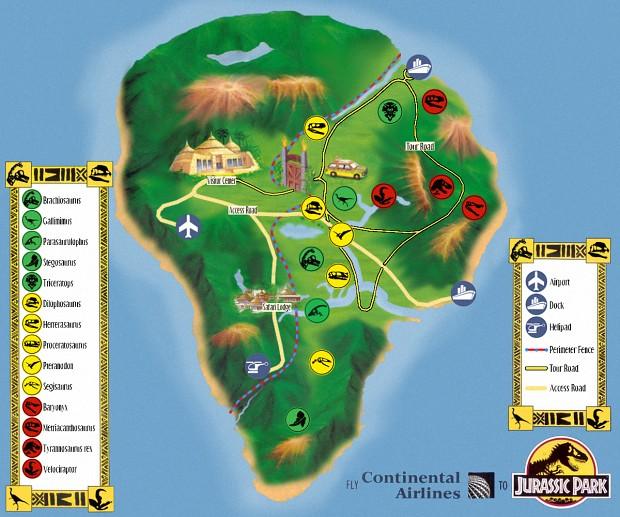 OUTDATED] Isla Nublar Tour Map Remake image - Return to Juric ... on azores map, nauru map, isla sorna dinosaur map, antigua map, greenland map, isla pena, guyana map,