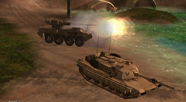 M1A1 and Stryker