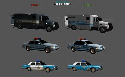Police cars (before & after)