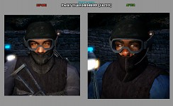 SWAT team faces (before & after)