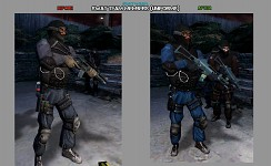 SWAT team uniforms (before & after)