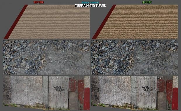 More in-depth look of terrain