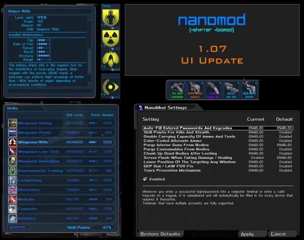 NanoMod UI Update