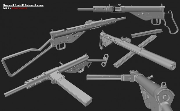 Sten Mk.II & Mk.IIS Submachine gun