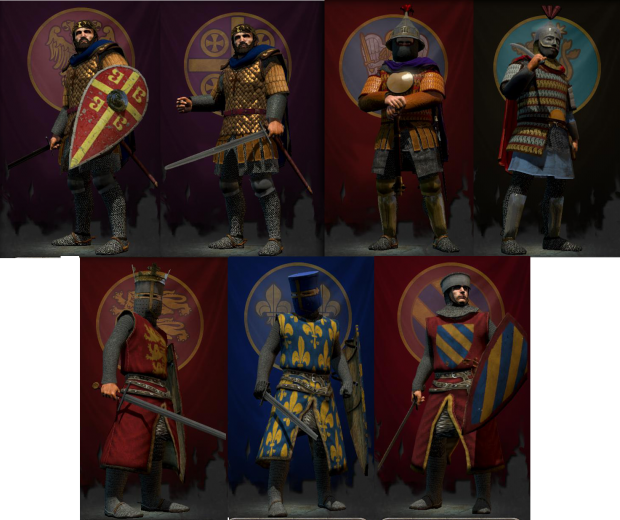 Medieval Kingdoms: Total War WIPfactionleaders