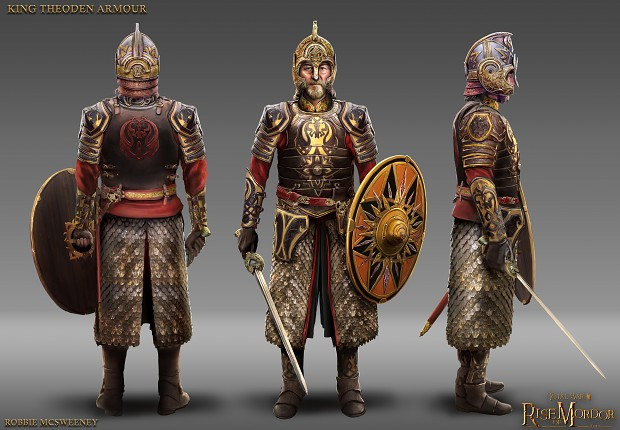 King Theoden armour concept