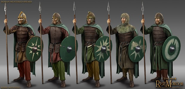 Rohan Mustered Spearmen concept