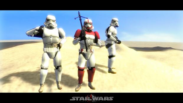 Sandtroopers on Tatooine - Custom models ingame !