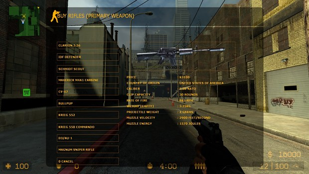 CSS: All Weapons for all Teams mod for Counter-Strike