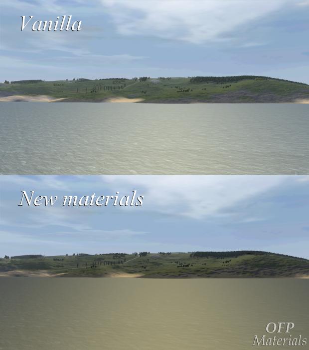 Materials comparison: vanilla vs OFP Materials