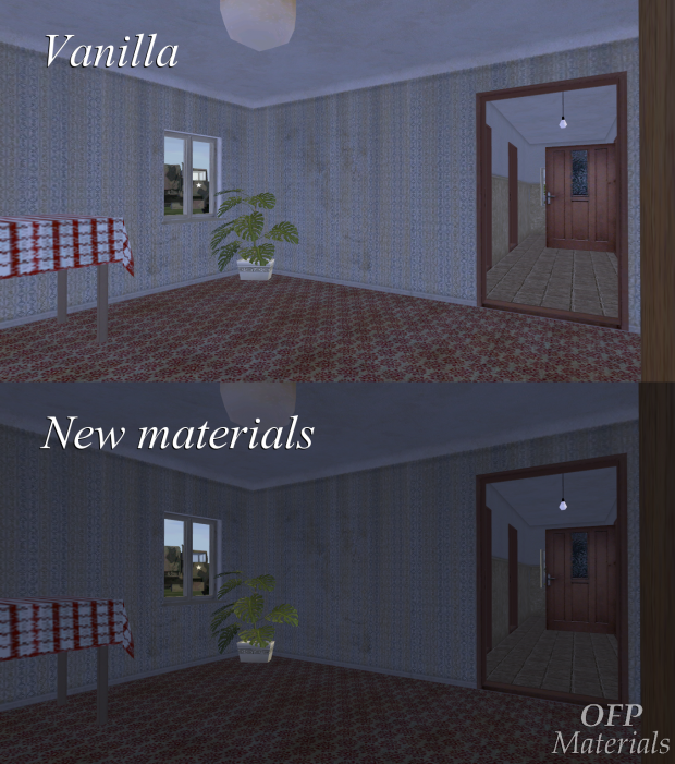 Materials comparison: vanilla vs OFP Materials