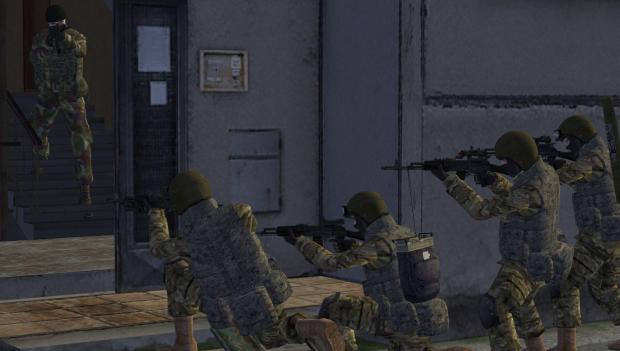 Russian counter terrorist units in multicam
