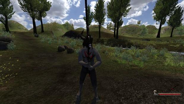 Daedric Helmet + Sword