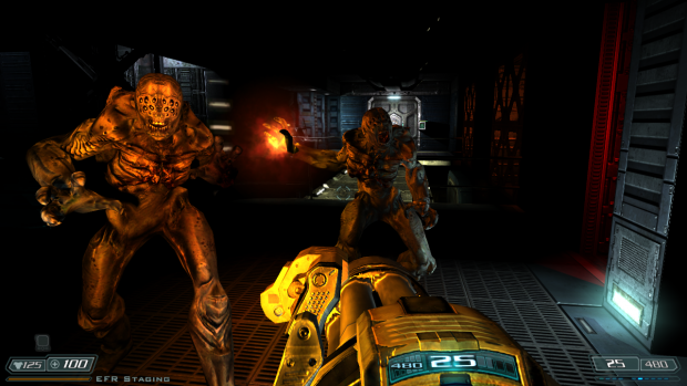 Doom 3 BFG Hi Def 2.6b patch - Fireball shadows
