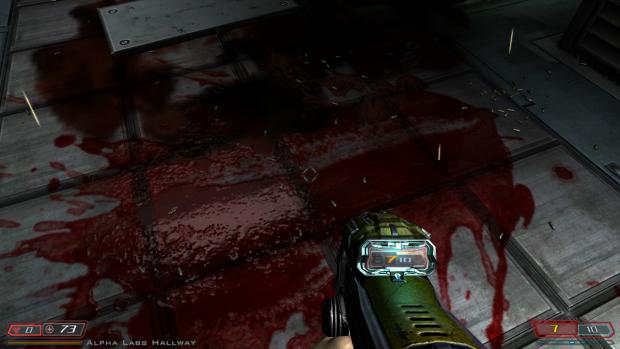 Doom 3 BFG Hi Def 2.6c patch - Sikkmod's reflective blood