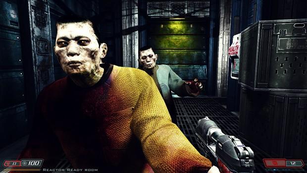 asian zombies wip image - Doom 3 BFG Hi Def mod for Doom III