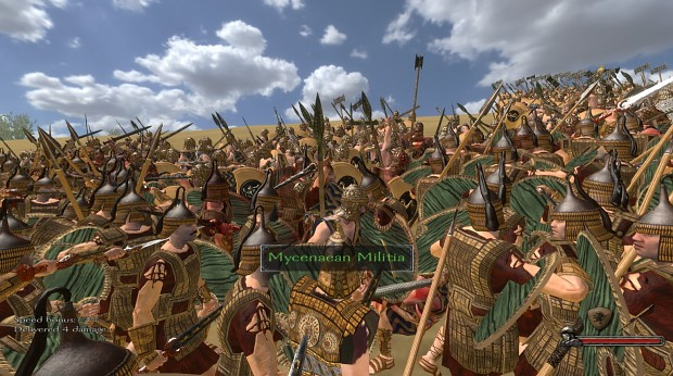 Trojans Attacking The Greeks