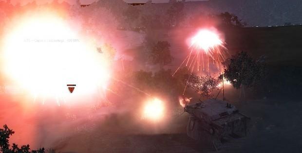 Airburst artillery shells
