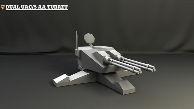 Dual UAC/5 AA Turret