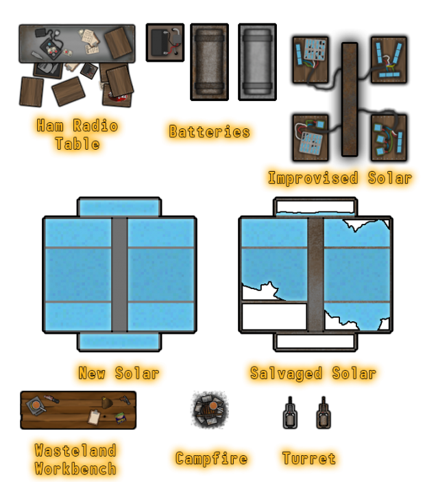 Items and Buildings