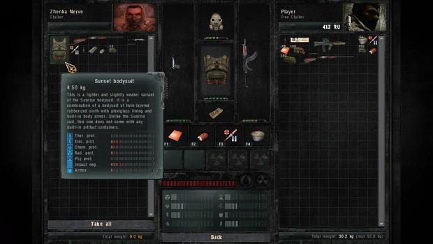 Armor looting option