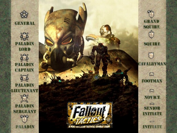 Revised Rank Structure image - Fallout Tactics Redux mod ... Fallout