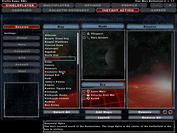 Battlefront II Main Menu