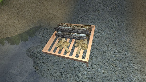 Decay bed with items inside